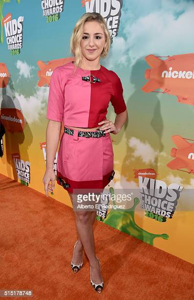 Dancer Chloe Lukasiak attends Nickelodeon's 2016 Kids' Choice Awards at The Forum on March 12 2016 in Inglewood California