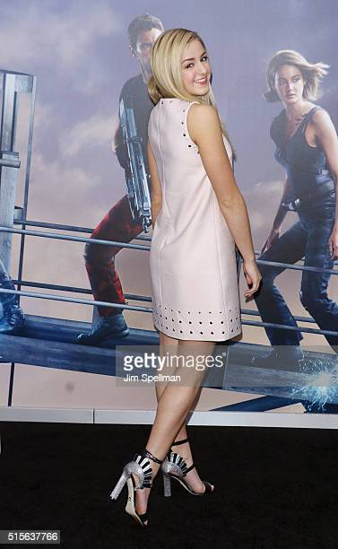 Dancer Chloe Lukasiak attends the 'Allegiant' New York premiere at AMC Loews Lincoln Square 13 theater on March 14 2016 in New York City