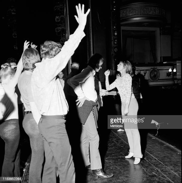 Dancer choreographer and actress Gillian Lynne during rehearsals a Drury Lane for 'Phil the Fluter's Ball' 24th October 1969