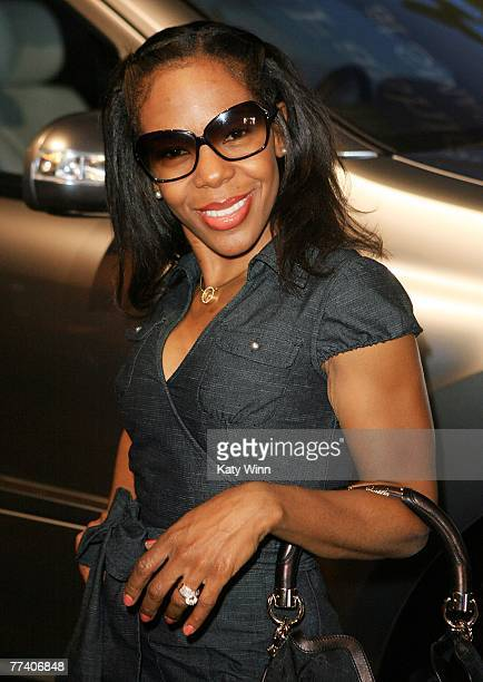 Dancer/ choreographer Andrea Kelly around Mercedes Benz Fashion Week held at Smashbox Studios on October 18 2007 in Culver City California