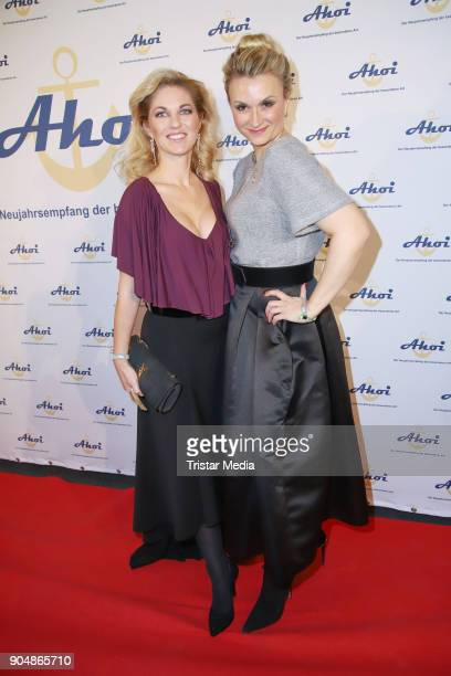 Dancer Christine Deck and her cousin designer Ella Deck attend the 'Ahoi 2018 The special kind of New Year's Reception on January 13 2018 in Hamburg...