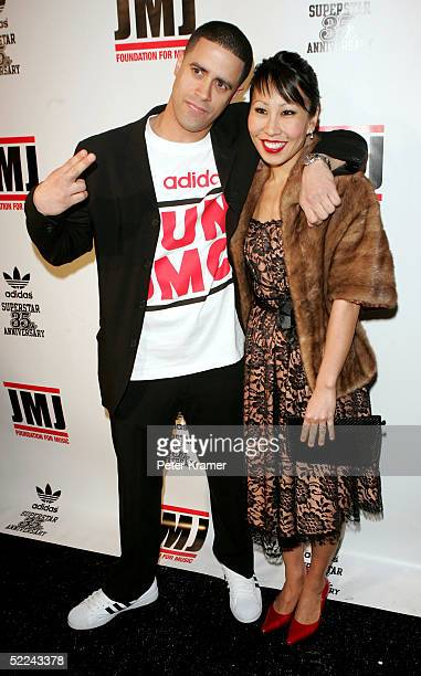 Dancer Crazy Legs and date attend the 35th anniversary of the Adidas superstar sneaker honoring the life of Jam Master Jay on February 25 2005 in New...