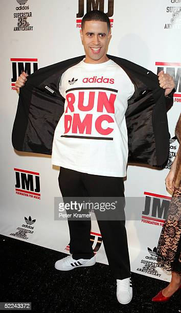 Dancer Crazy Legs attends the 35th anniversary of the Adidas superstar sneaker honoring the life of Jam Master Jay on February 25 2005 in New York...