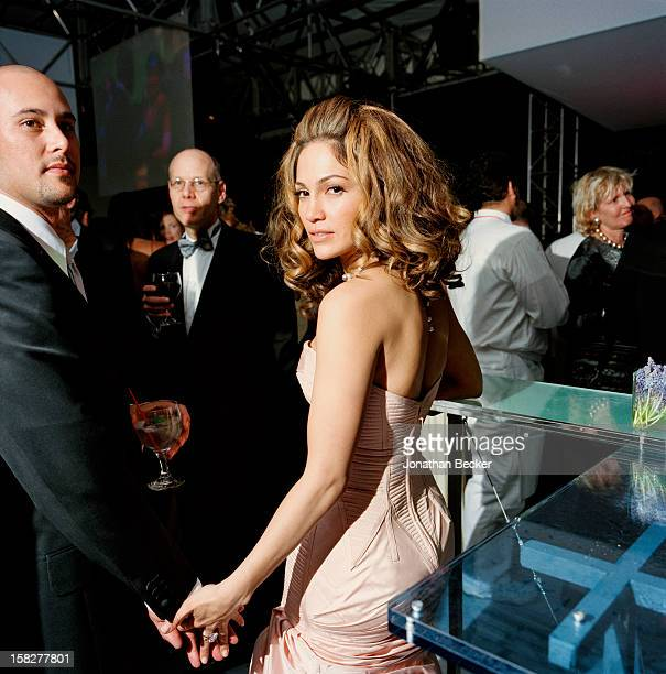 Dancer Cris Judd and singer/actress Jennifer Lopez are photographed for Vanity Fair Magazine on March 24, 2002 at the Vanity Fair Oscar Party at...