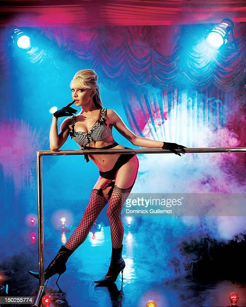 Dancer Cyia Batten of the group the Pussycat Dolls are photographed for Maxim Magazine on December 2 2002 in Los Angeles California