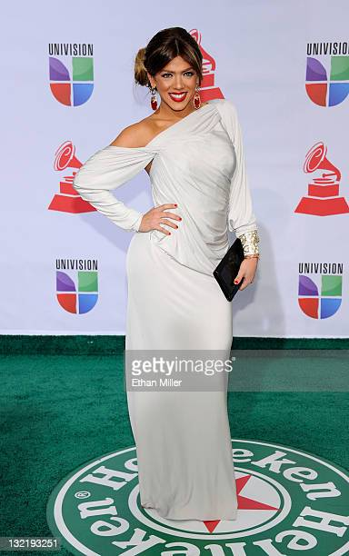 Dancer Danella Urbay arrives at the 12th annual Latin GRAMMY Awards at the Mandalay Bay Resort Casino on November 10 2011 in Las Vegas Nevada