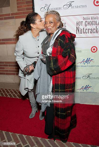 Dancer Debbie Allen and her mother Vivian Ayers arrive at Debbie Allen's 2nd Annual The Hot Chocolate Nutcracker at Royce Hall UCLA on December 8...