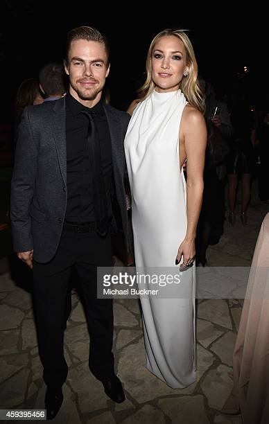 Dancer Derek Hough and host committee member Kate Hudson attend Goldie Hawn's inaugural Love In For Kids benefiting the Hawn Foundation's MindUp...