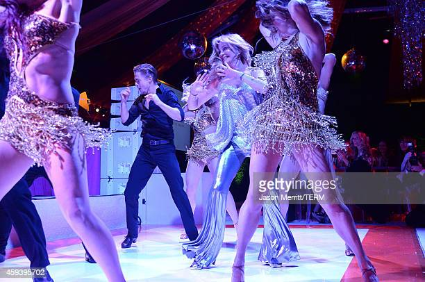 Dancer Derek Hough and host Goldie Hawn perform at Goldie Hawn's inaugural Love In For Kids benefiting the Hawn Foundation's MindUp program...