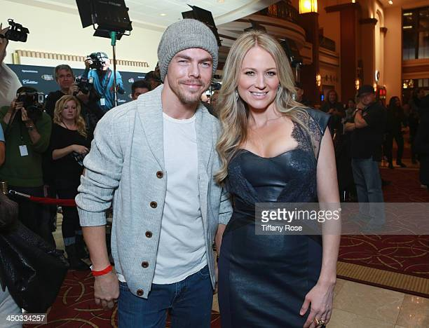 Dancer Derek Hough and singer Jewel attend The Grove's Tree Lighting Spectacular Presented by Citi at The Grove on November 17 2013 in Los Angeles...