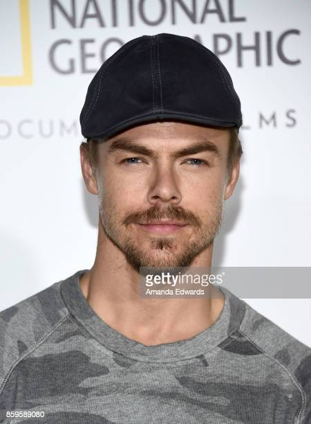 Dancer Derek Hough arrives at the premiere of National Geographic Documentary Films' 'Jane' at the Hollywood Bowl on October 9 2017 in Hollywood...
