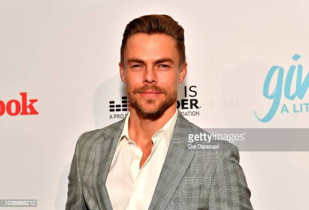 Dancer Derek Hough attends 2018 TLC's Give A Little Awards on September 20 2018 at Park Hyatt in New York City