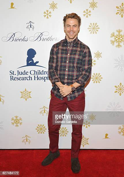 Dancer Derek Hough attends Brooks Brothers holiday celebration with St Jude Children's Research Hospital on December 3 2016 in Beverly Hills...