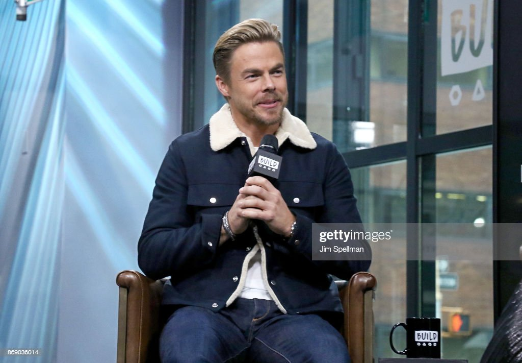 Dancer Derek Hough attends Build to discuss The Movember Foundation at Build Studio on November 1, 2017 in New York City.