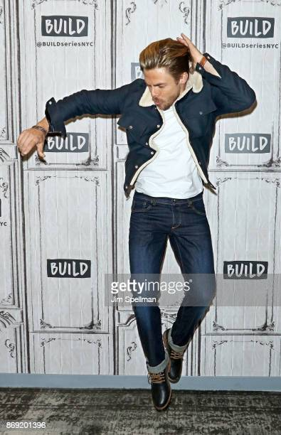 Dancer Derek Hough attends Build to discuss The Movember Foundation at Build Studio on November 1 2017 in New York City