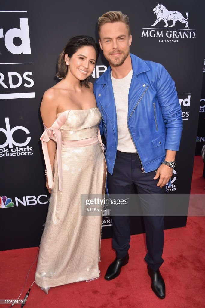 Dancer Derek Hough (R) attends the 2018 Billboard Music Awards at MGM Grand Garden Arena on May 20, 2018 in Las Vegas, Nevada.