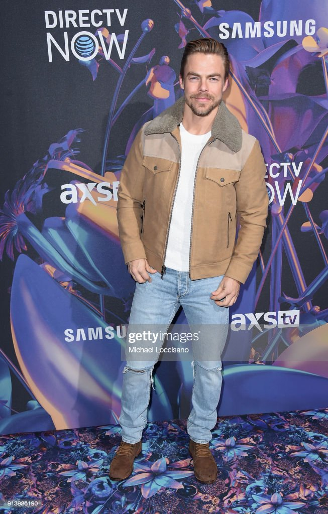 Dancer Derek Hough attends the 2018 DIRECTV NOW Super Saturday Night Concert at NOMADIC LIVE! at The Armory on February 3, 2018 in Minneapolis, Minnesota.