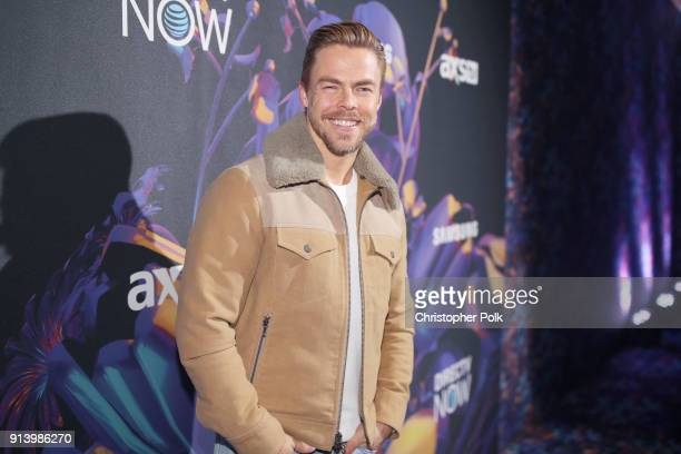 Dancer Derek Hough attends the 2018 DIRECTV NOW Super Saturday Night Concert at NOMADIC LIVE at The Armory on February 3 2018 in Minneapolis Minnesota