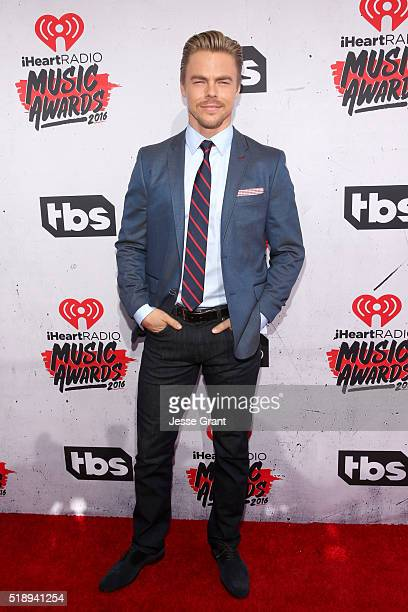 Dancer Derek Hough attends the iHeartRadio Music Awards at The Forum on April 3 2016 in Inglewood California