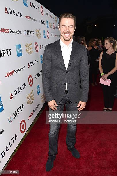 Dancer Derek Hough attends the MPTF 95th anniversary celebration with Hollywood's Night Under The Stars at MPTF Wasserman Campus on October 1 2016 in...