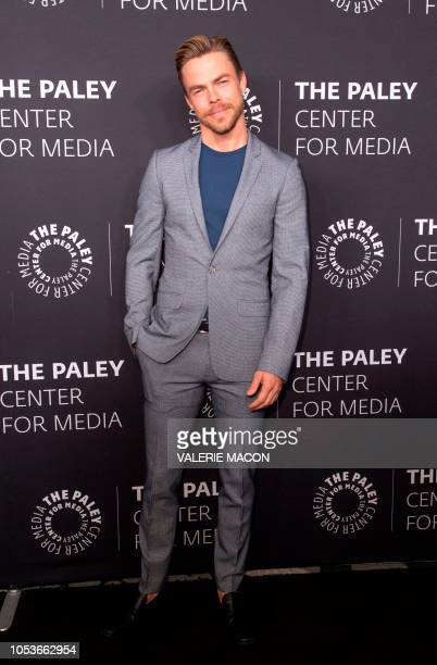 US dancer Derek Hough attends The Paley Honors In Hollywood A Gala Tribute To Music On Television in Beverly Hills California on October 25 2018