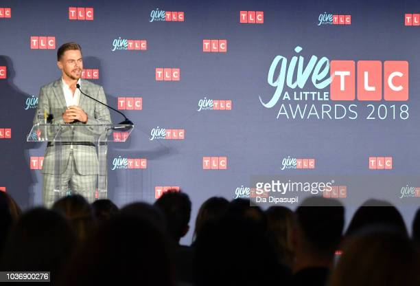 Dancer Derek Hough speaks onstage during 2018 TLC's Give A Little Awards on September 20 2018 at Park Hyatt in New York City