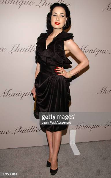 d889256bd5a0 Dancer Dita Von Teese arrives at the Monique Lhuillier new Melrose Place  Boutique on October 10th
