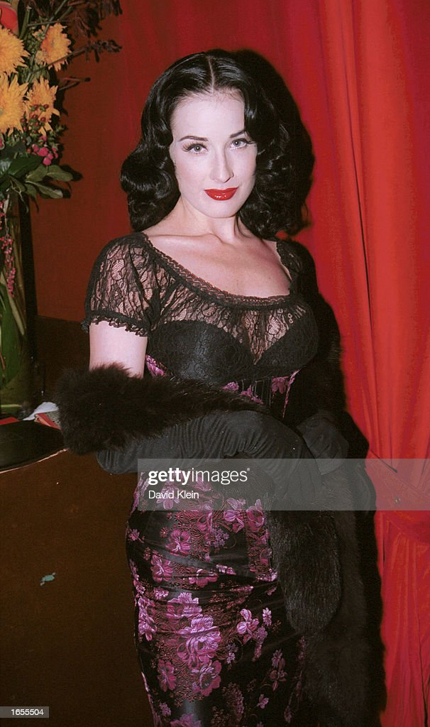 Dancer Dita Von Teese Attends The Playboy Party At Barfly On