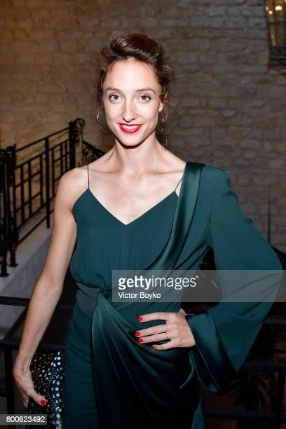 Dancer Dorothee Gilbert attends the Balmain After Party during Paris Fashion Week on June 24 2017 in Paris France