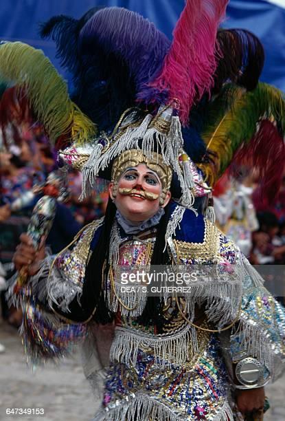 Dancer during the Saint Thomas festival Chichicastenango Quiche Guatemala