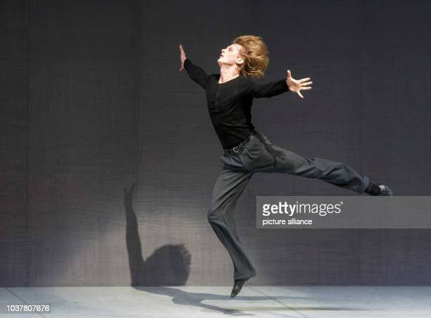 Dancer Edvin Revazov dances on stage during a special performance of three Shakespeare ballet pieces titled 'Shakespeare Dances - Die ganze Welt ist...