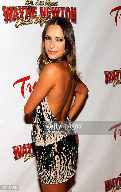 Dancer Edyta Sliwinska arrives at the opening of Wayne Newton's limitedengagement production Once Before I Go at the Tropicana Las Vegas October 28...
