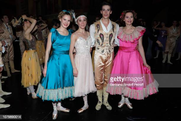 Dancer Emilie Cozette Ludmilla Pagliero Alessio Carbone and Ida Vilkinkoski attend 'Cendrillon' choregraphing by Rudolf Noureev during 'Reve...