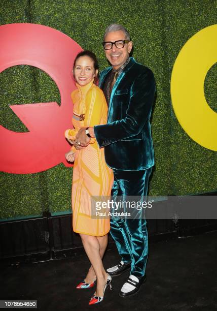 Dancer Emilie Livingston and Actor Jeff Goldblum attend the 2018 GQ Men Of The Year party at Benedict Estate on December 06 2018 in Beverly Hills...
