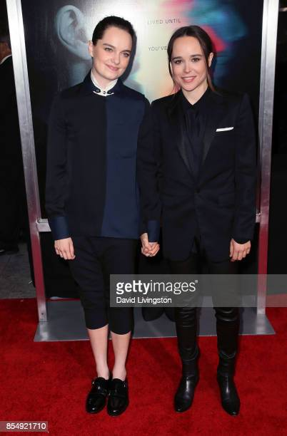 Dancer Emma Portner and actress Ellen Page attend the premiere of Columbia Pictures' Flatliners at The Theatre at Ace Hotel on September 27 2017 in...