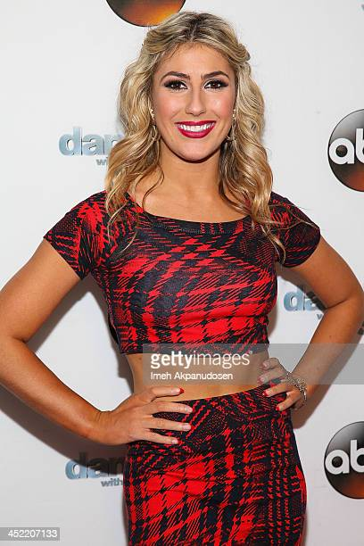 Dancer Emma Slater attends the 'Dancing With The Stars' Wrap Party at Sofitel Hotel on November 26 2013 in Los Angeles California