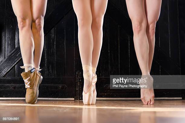 Dancer En Pointe in different footware