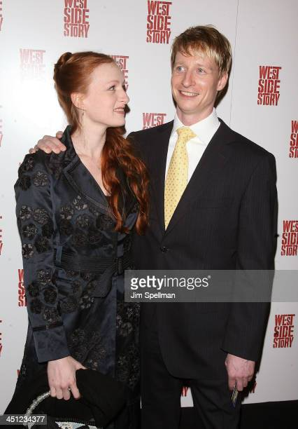 Dancer Ethan Stiefel and guest attend the West Side Story Broadway revival opening night at The Palace Theatre on March 19 2009 in New York City New...