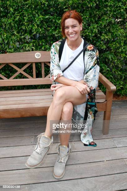 Dancer Fauve Hautot attends the 2017 French Tennis Open - Day Two at Roland Garros on May 29, 2017 in Paris, France.