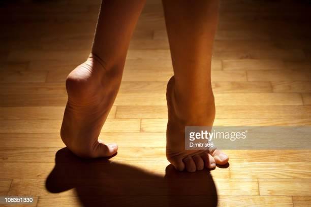 dancer feet - ballerina feet stock photos and pictures