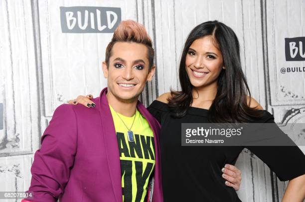 Dancer Frankie J Grande and TV host Lyndsey Rodrigues attend Build to discuss Amazon's 'Style Code Live' at Build Studio on May 11 2017 in New York...