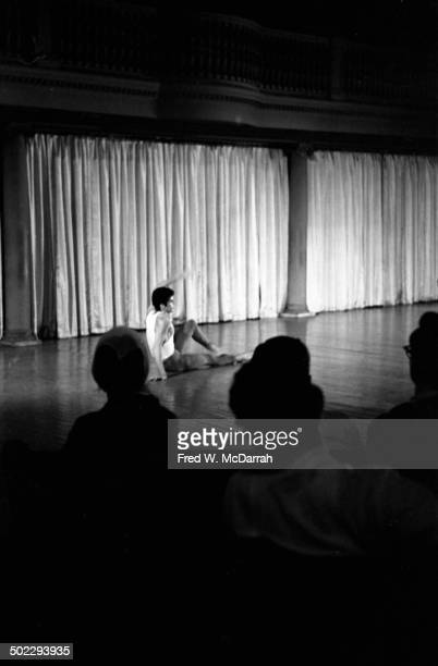Dancer Fred Herko performs on stage during the 'Concert Of Dance' production at Judson Church New York New York July 6 1962