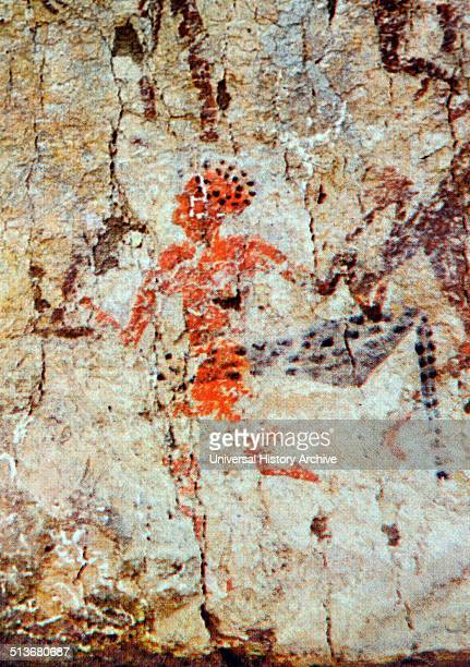 Dancer From a wall painting South Anatolian Early Neolithic Culture c 6000 BC From the temple in Level III of Catal Huyuk Turkey The male figure a...