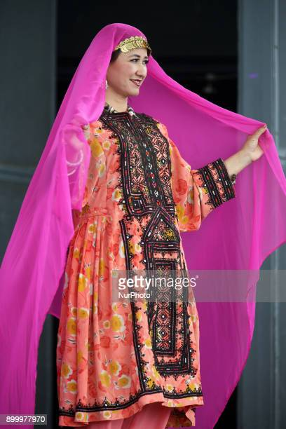 Dancer from the Silk Road Dance Company performs a traditional Afghani dance in Toronto Ontario Canada The Silk Road Dance Company enthralled the...