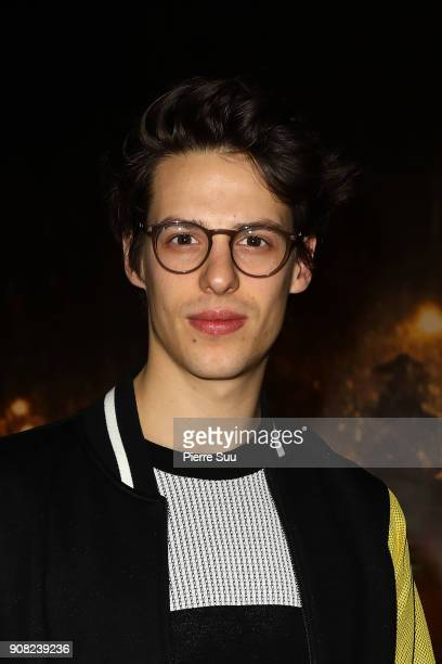 Dancer Germain Louvet attends the Agnes B Menswear Fall/Winter 20182019 show as part of Paris Fashion Week on January 21 2018 in Paris France
