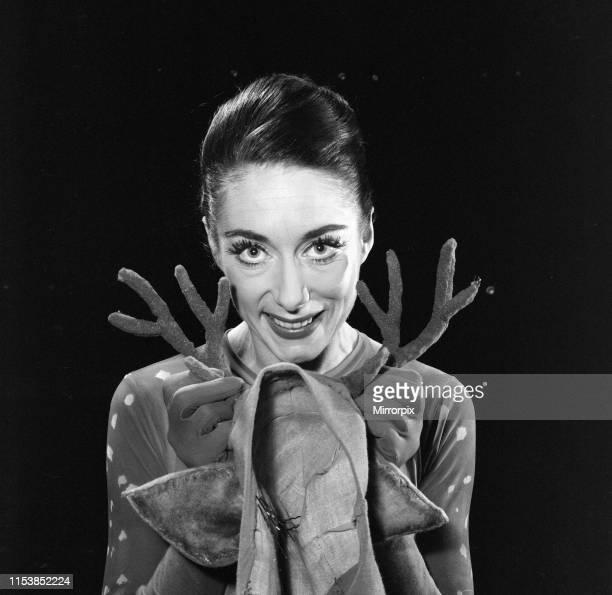 Dancer Gillian Lynne is playing two roles in the pantomime Cinderella at The Adelphi Theatre the Stag and the Crystal Fairy 22nd January 1961