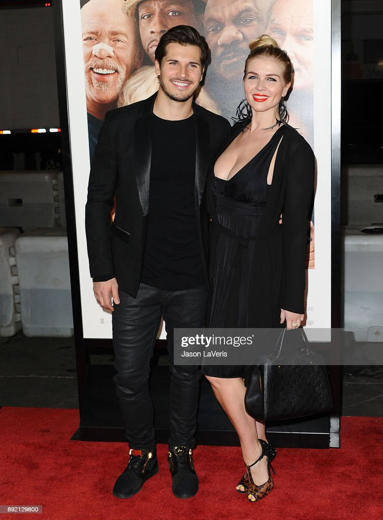 Dancer Gleb Savchenko and wife Elena Samodanova attend the premiere of 'Father Figures' at TCL Chinese Theatre on December 13, 2017 in Hollywood, California.