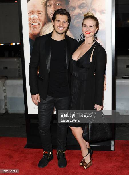 Dancer Gleb Savchenko and wife Elena Samodanova attend the premiere of 'Father Figures' at TCL Chinese Theatre on December 13 2017 in Hollywood...