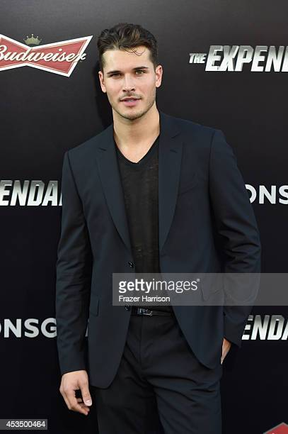 Dancer Gleb Savchenko attends Lionsgate Films' The Expendables 3 premiere at TCL Chinese Theatre on August 11 2014 in Hollywood California