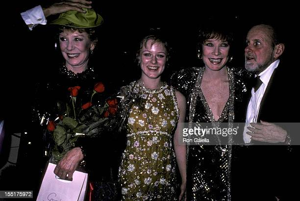 Dancer Gwen Verdon daughter Nicole Fosse actress Shirley MacLaine and choreographer/filmmaker Bob Fosse attend the New York Telephone's A Gala Musice...